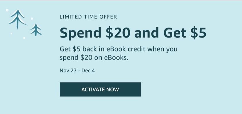 Get $5 back in ebook credit