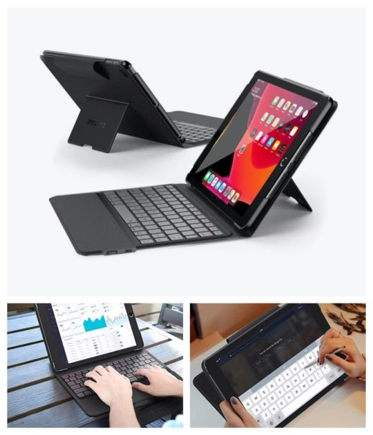 Multi-angle keyboard case for Apple iPad 10.2