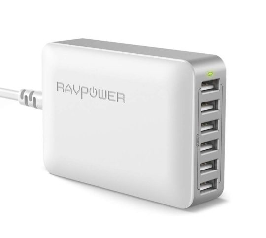 RAVPower 60W 6-port USB charger - best iPad accessories for 2020