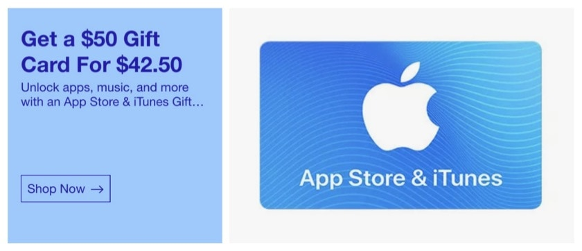 Save on Apple iTunes gift card on eBay