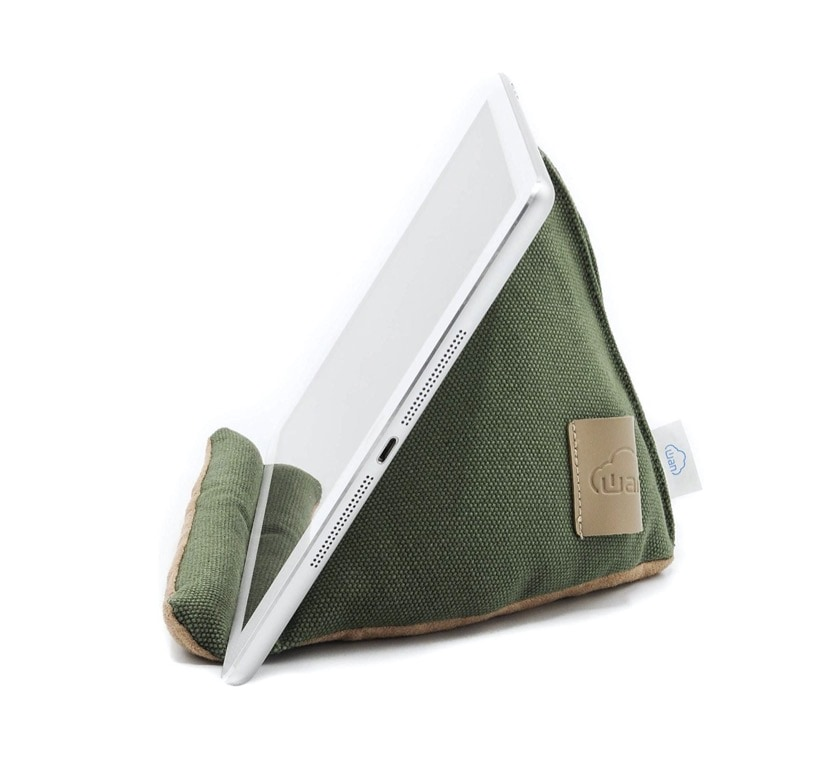 Wan Living cozy iPad pillow stand for reading on Amazon