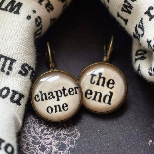 """Chapter One - The End"" earrings - best gifts for her"