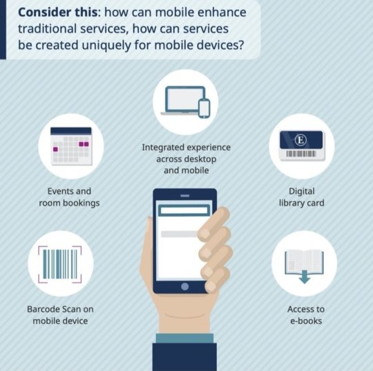 How can mobiles enhance traditional library services