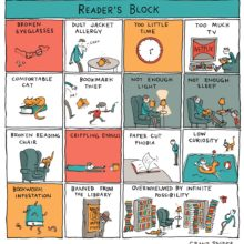 Reader's block - a cartoon by Grant Snider
