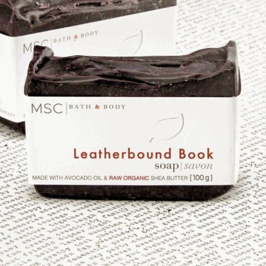 Soap with a scent of a leatherbound book - best gifts for him