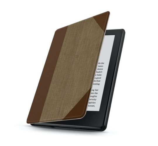 Affordable book-style cover for basic Kindle model