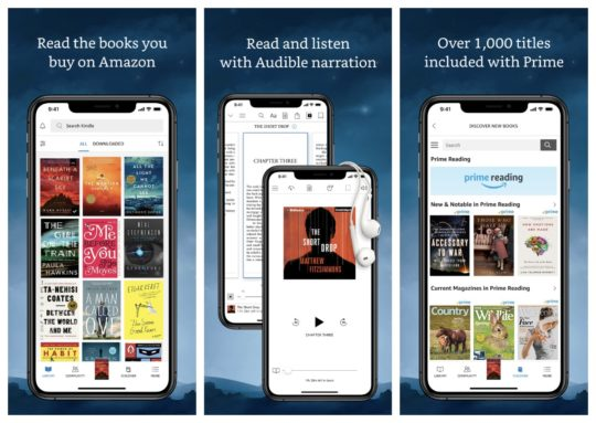 Amazon Kindle app with Audible narration