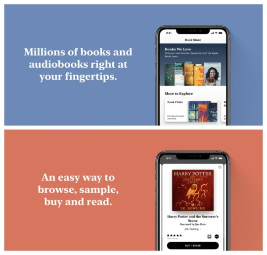Apple Books with audiobook support
