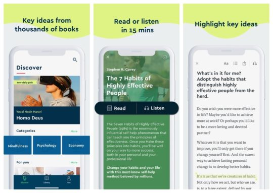 Blinkist app - read key ideas from nonfiction books