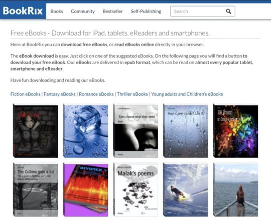 BookRix - free ebooks for iPhone and iPad