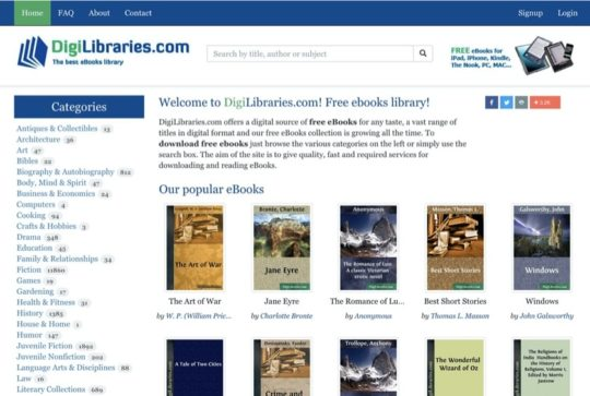 DigiLibraries - free books for iPad and iPhone
