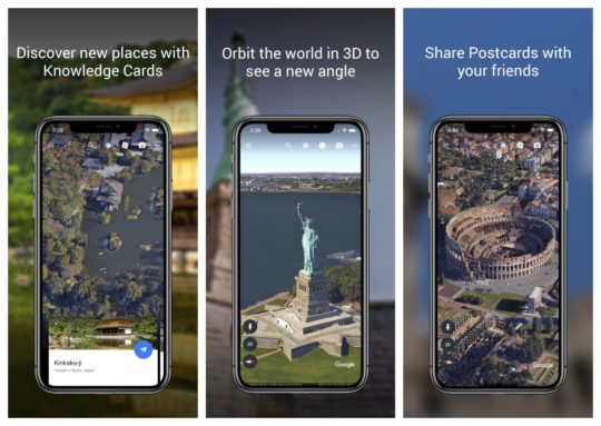 Google Earth - top reference iPad and iPhone apps