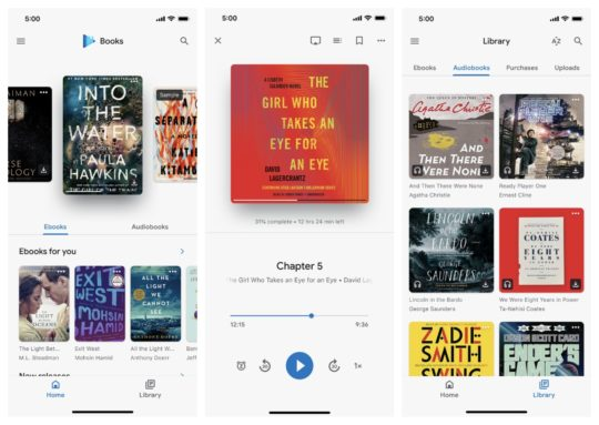 Google Play Books with audiobook player