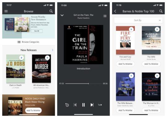 Nook Audiobooks app for iOS
