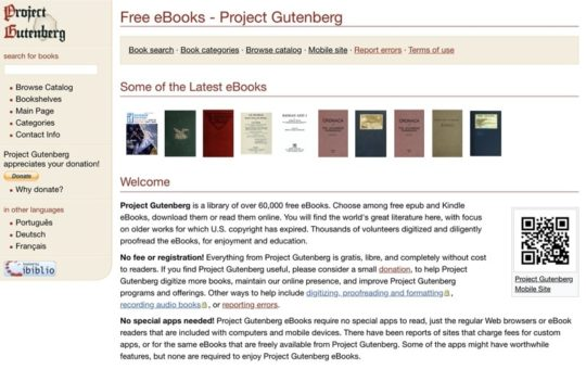 Project Gutenberg - Free books for iPad and iPhone