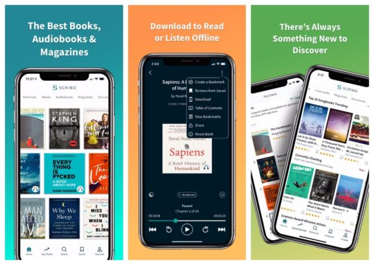Scribd app - ebooks audiobooks subscription