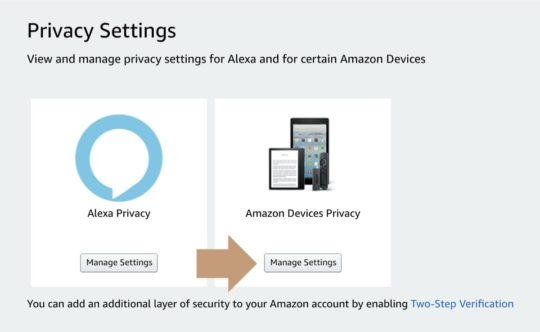 Select Amazon Devices Privacy