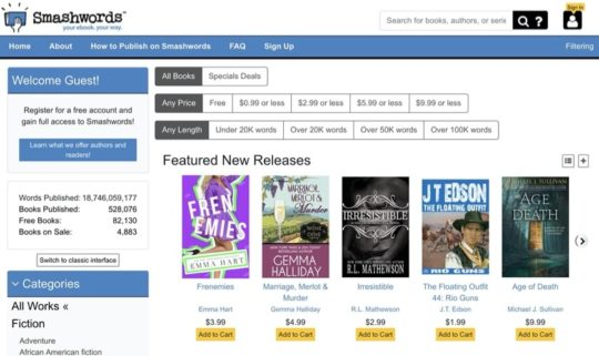 Smashwords - free books for iPad and iPhone
