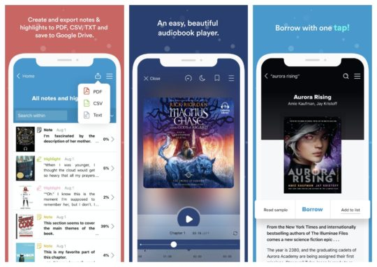 Sora by OverDrive - best iPad apps to borrow books