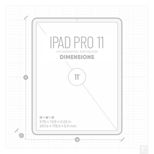 Apple iPad Pro 11-inch 2020 release - dimensions