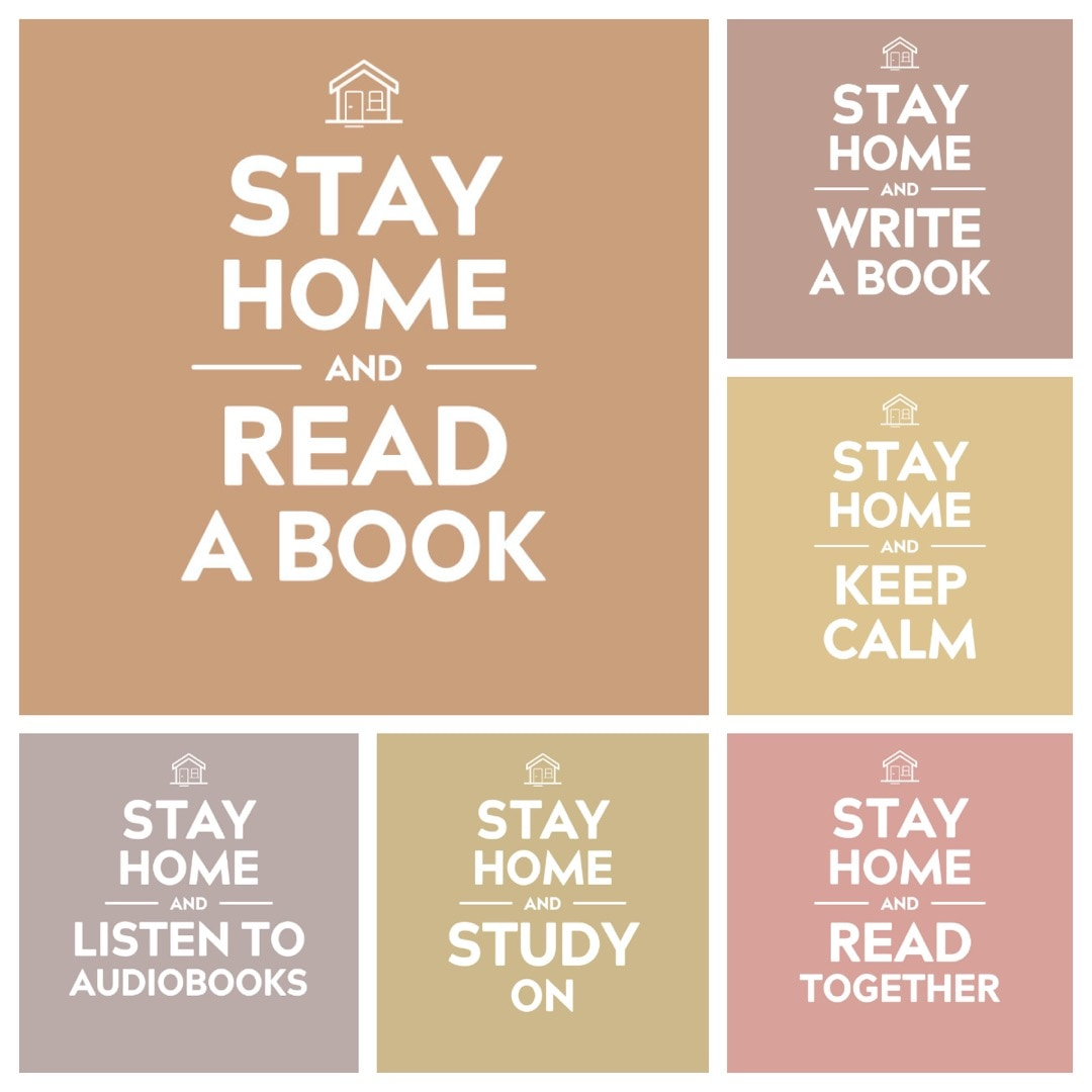 Stay Home and Read Books - free images to share