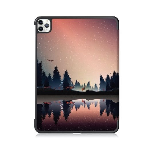 Tri-fold Apple iPad Pro 11 2020 case with two-sided design