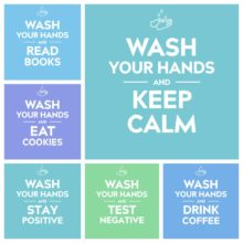 Wash your hands and keep calm - free pictures to share