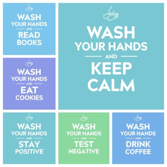 """""""Wash Your Hands and Keep Calm"""" images to share"""