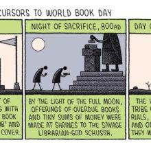 World Book Day 2020 - cartoon by Tom Gauld