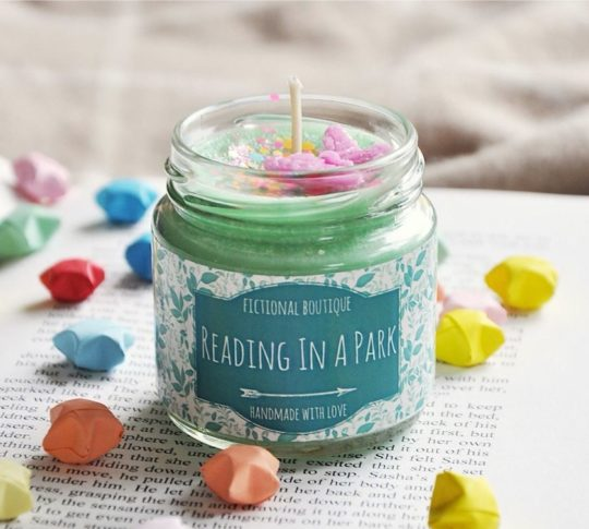 Book-inspired scented candle - perfect for reading nook