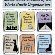 Classic books reissued during coronavirus pandemic - cartoon