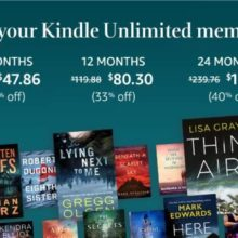Extend Kindle Unlimited membership and save even 40%!