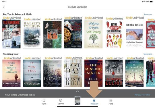 Find Kindle Unlimited books on iPad