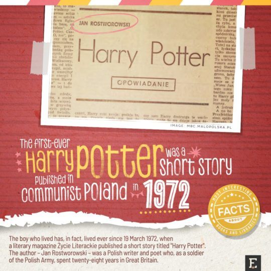 First Harry Potter ever - fun facts about books