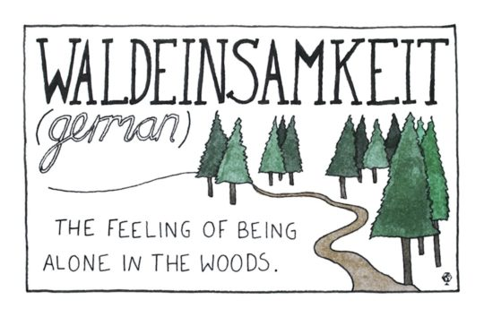 German Waldeinsamkeit - untranslatable words from around the world