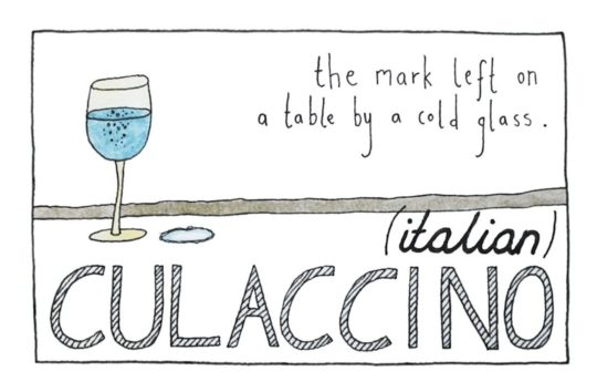Italian Culaccino - foreign language words that cant be translated to English