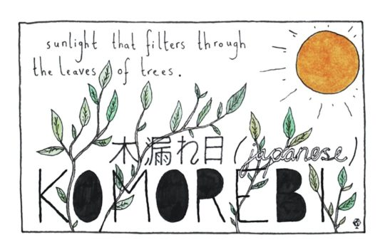 Japanese Komorebi - words untranslatable to English visualized by Ella Frances Sanders