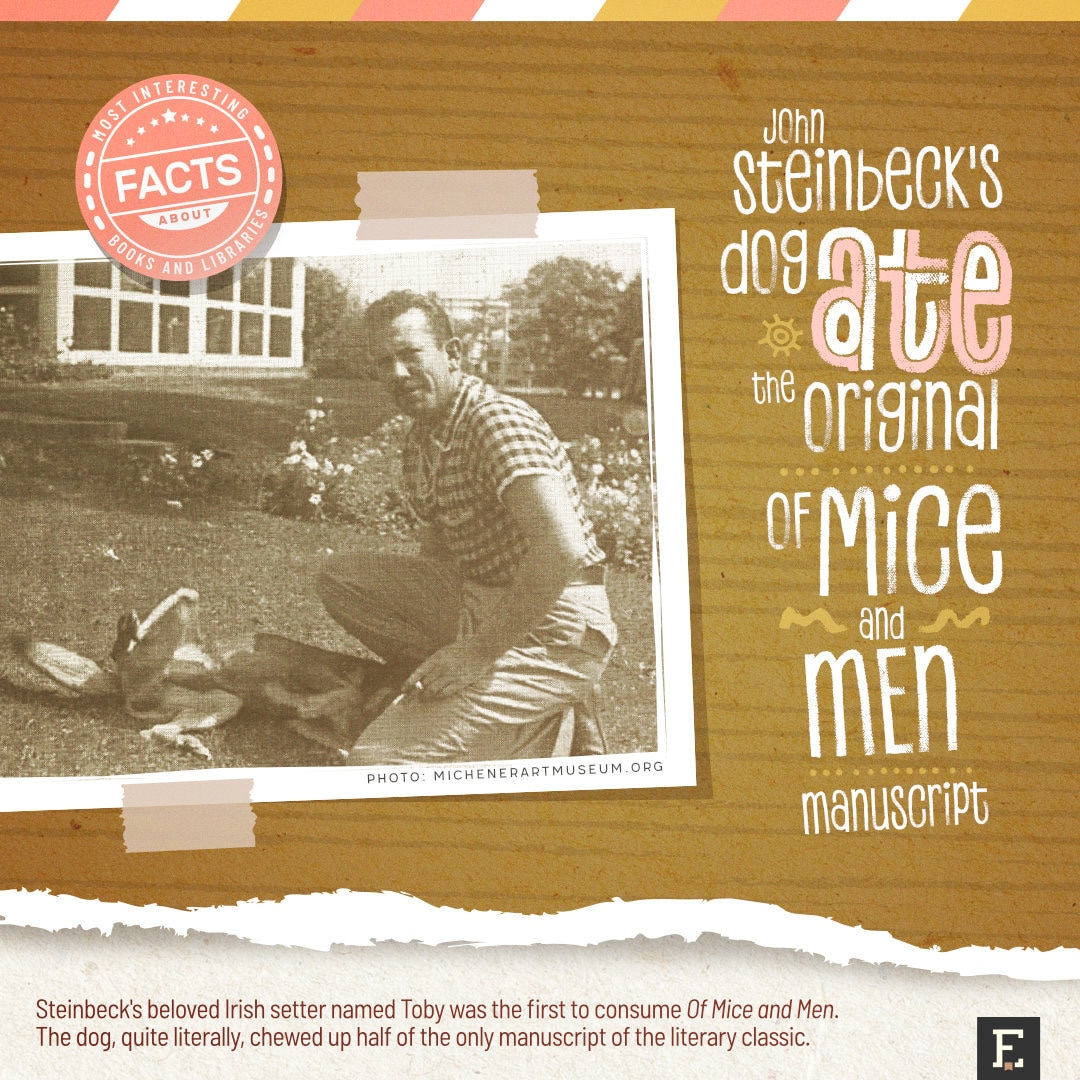 John Steinbeck dog - fun facts about books