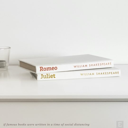 Romeo and Juliet - if books were written in a time of social distancing