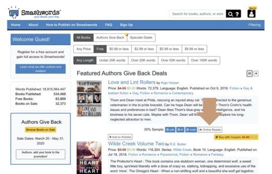 Smashwords - read books online