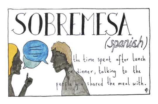 Spanish Sobremesa - words untranslatable to English