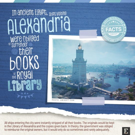 The library of Alexandria - fun facts about books and libraries
