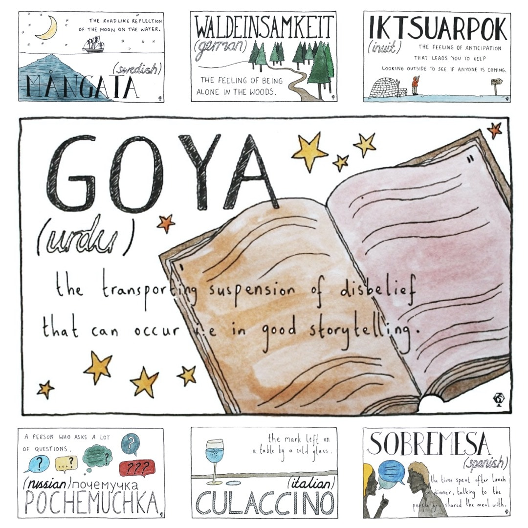 Untranslatable words from around the world illustrated by Ella Frances Sanders