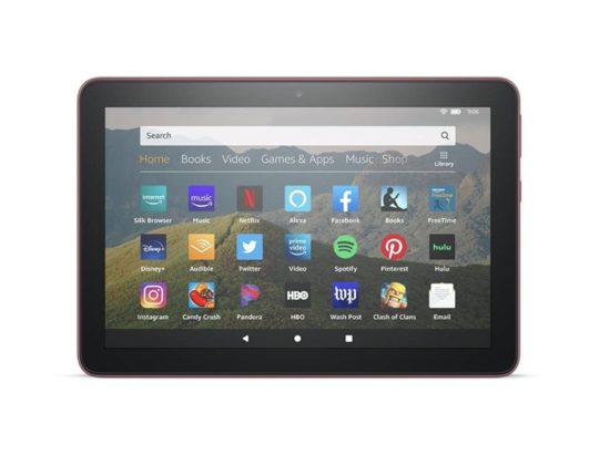 Amazon Fire HD 8 with horizontal-first design