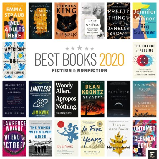 Best Amazon books 2020 - fiction and nonfiction - print, Kindle, Audible