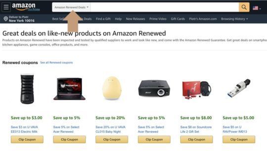 Check Amazon Renewed Deals for refurbished iPads on sale