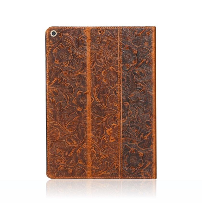 Cowhide genuine leather iPad 10.2 folio cover 2021/2020 release