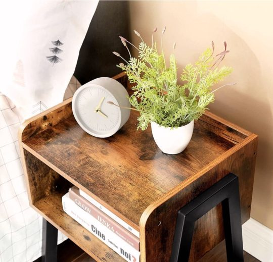 Industrial nightstand - perfect for books