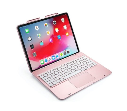 Laptop-style iPad Pro 12.9 keyboard with touchpad