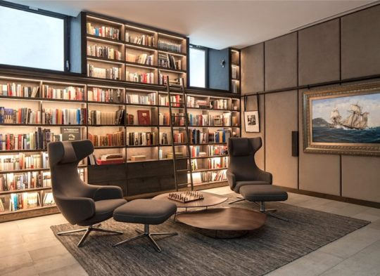 Library area in a contemporary house - examples of best home libraries